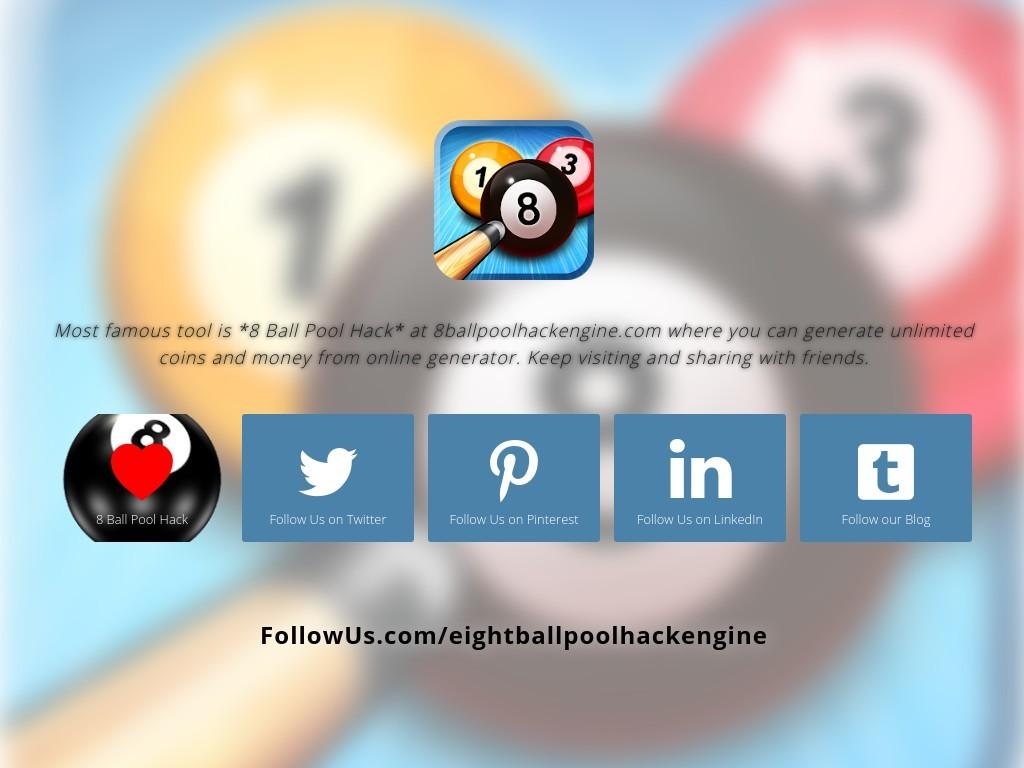 8 Ball Pool Coin Generator Online eightballpoolhackengine - social media