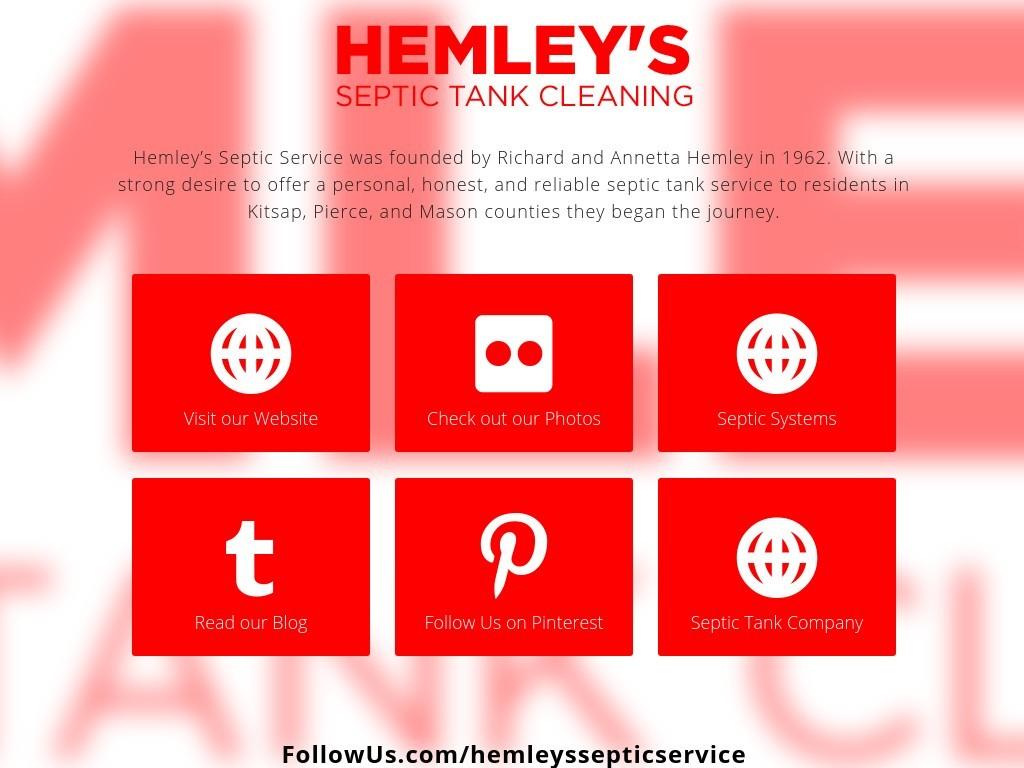 Hemley s septic service social media for Kitsap septic
